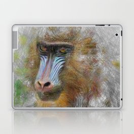Artistic Animal Mandrill Laptop & iPad Skin