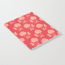 Romantic Pink on Red Roses Notebook