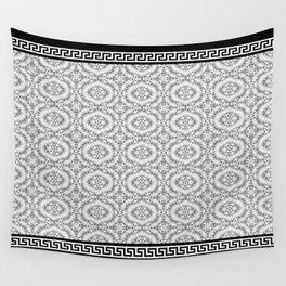 Greek Key - Grey Lace Wall Tapestry