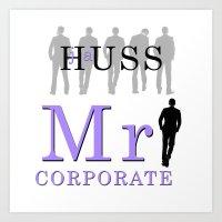 Mr. Corporate by JA Huss Art Print