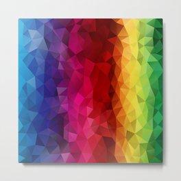 Rainbow Polygons Metal Print