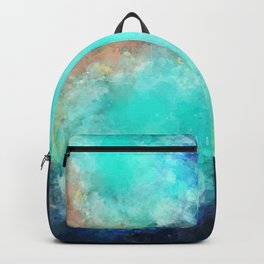 Watercolor Aerial View of Ocean Cove {Gold Coast} Backpack