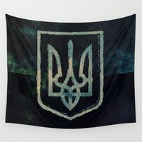 ukraine Wall Tapestries featuring Ukraine by rudziox