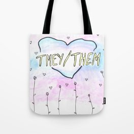They/them pronouns Tote Bag
