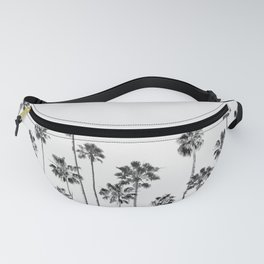 Black And White Palms 2 Fanny Pack