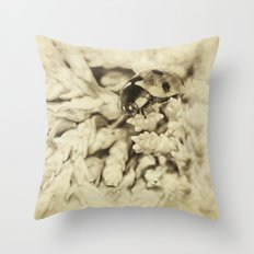 Vintage Ladybird Throw Pillow