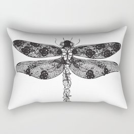 Lace dragonfly Rectangular Pillow
