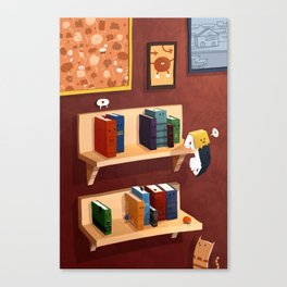 Small Books Canvas Print