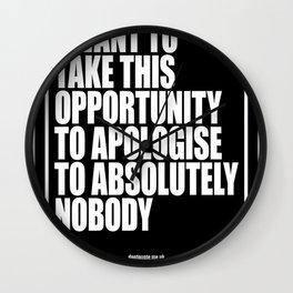 Conor McGregor - Absolutely Nobody Wall Clock