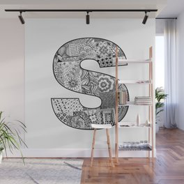 Cutout Letter S Wall Mural