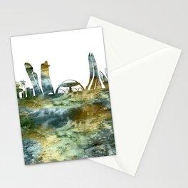Abu Dhabi City Skyline Stationery Cards