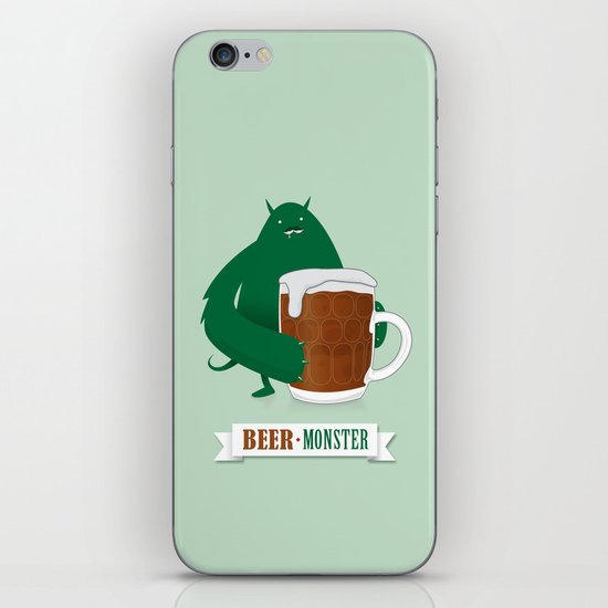 Beer Monster iPhone Skin