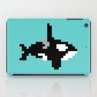8 bit iPad Cases featuring 8-bit Orca by Ria Pi