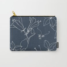 Drawings from Stonecrop Garden, Pattern in Navy Carry-All Pouch
