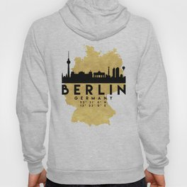 BERLIN GERMANY SILHOUETTE SKYLINE MAP ART Hoody