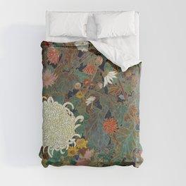flower【Japanese painting】 Comforters