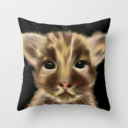 Innocence on a Black Background Throw Pillow