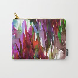 FERVOR 3 Colorful Bold Abstract Autumn Fall Crimson Red Purple Mauve Green Watercolor Painting Art Carry-All Pouch