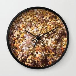 Autumn bloom Wall Clock