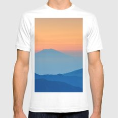 Orange Valley #mountains White Mens Fitted Tee MEDIUM