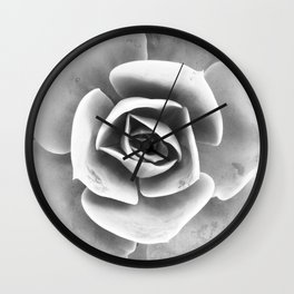 Succulent Photo | Black and White Wall Clock