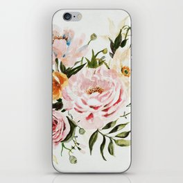 Loose Peonies & Poppies Floral Bouquet iPhone Skin