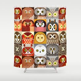 North American Owls Shower Curtain