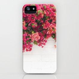 bougainvillea wall iPhone Case