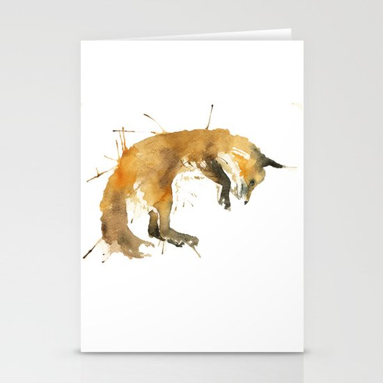 Sleepy Fox Stationery Cards