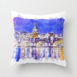 Prague, Czech Republic Throw Pillow