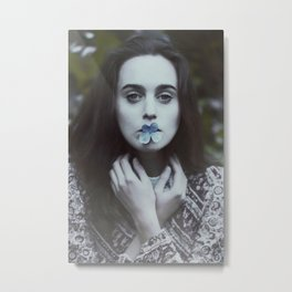 Lady of flowers Metal Print