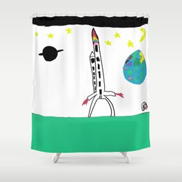 Earth from Space Shower Curtain