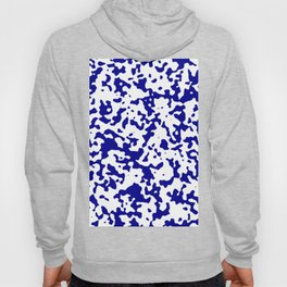 Spots - White and Dark Blue Hoody