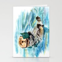 otter Stationery Cards featuring Otter by Anna Shell