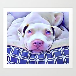 The French Bulldog Resting in His Bed Art Print