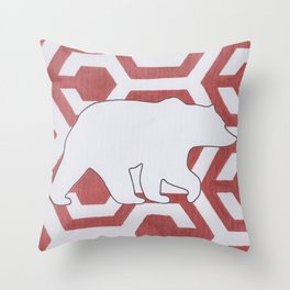 Armor Bear Throw Pillow