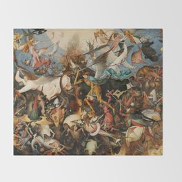 The Fall of the Rebel Angels, 1562 by Pieter Bruegel the Elder Throw Blanket