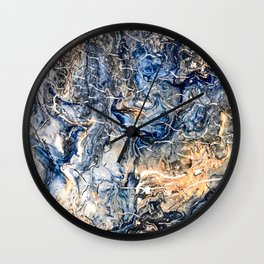 Breaking Waves Abstract Painting Wall Clock