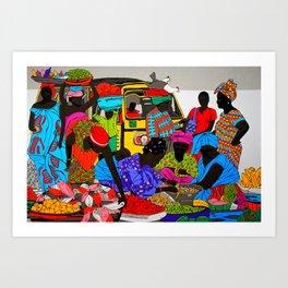 african market 1 Art Print