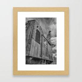 Abandoned crane Framed Art Print