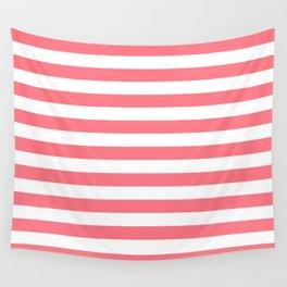 Strawberry Pink Sorbet Ice Cream Beach Hut Stripes Wall Tapestry
