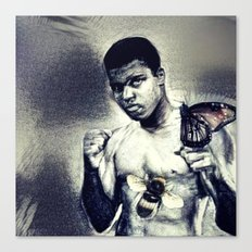Ali- Float like a Butterfly sting like a bee Canvas Print