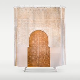 Alhambra door | Granada Spain travel photography | Bright and pastel colored photo art print Shower Curtain