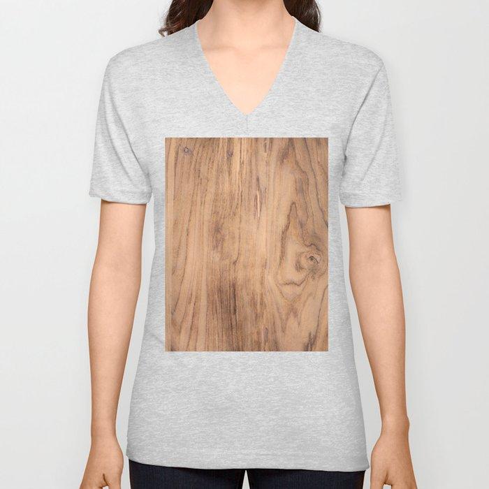Wood Grain #575 Unisex V-Ausschnitt