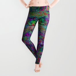 Senile Scream (abstract, psychedelic, visionary, glowing edges) Leggings