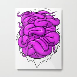 Pink Tentacles Metal Print