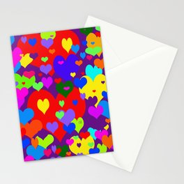 Mille coeurs gais Stationery Cards