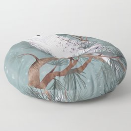 Snowy Floor Pillow