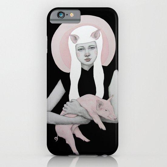 Peonia in Black iPhone & iPod Case