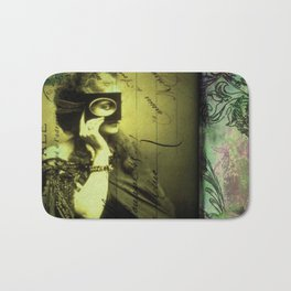 The Countess - print of a mixed media collage, surreal victorian romantic Bath Mat